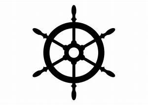 Ship's Wheel Silhouette