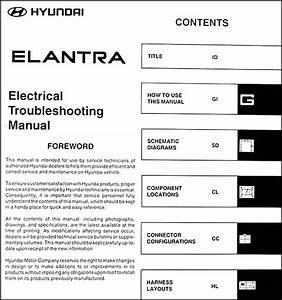 2003 Hyundai Elantra Electrical Troubleshooting Manual