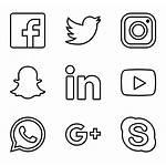 Social Icons Icon Logos Network Clipart Vector