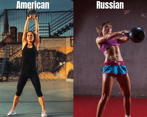 swing kettlebell russian forearms quads shoulders hamstring glutes chest core works american vs