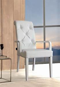 chaise pu blanche connie zd1 c d ec 156jpg With salle À manger contemporaineavec chaise avec accoudoir