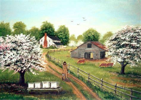 Folk Art Painting, Beekeeper, Fine Art America, Farm House ...