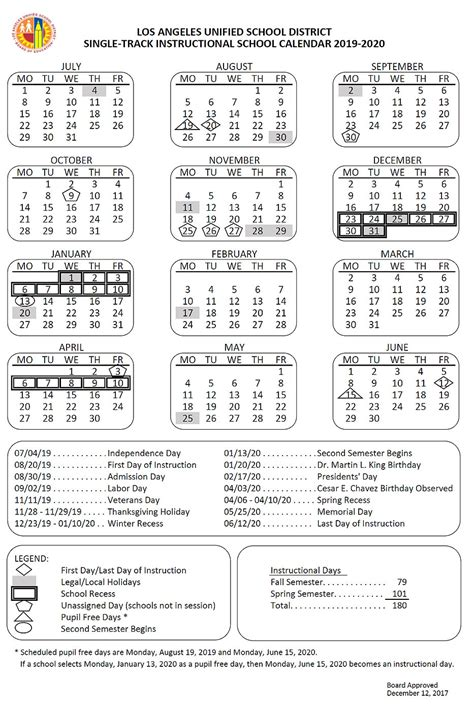 lausd summer school calendar viewsummerco