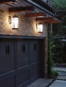 beautiful craftsman sconces light the way home With exterior garage lighting placement