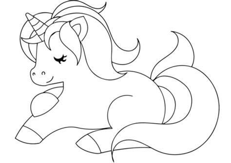 Cute Unicorn coloring page Free Printable Coloring Pages
