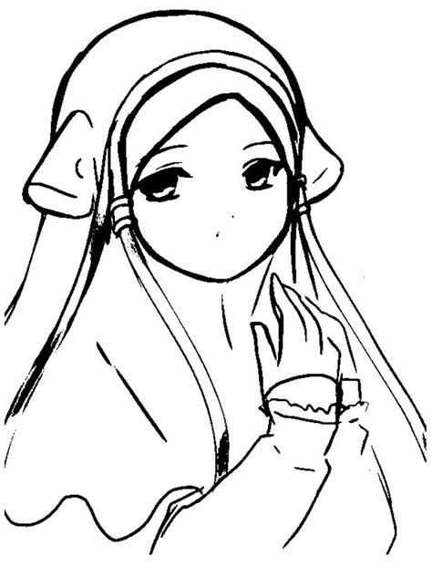 gambar muslim untuk mewarnai sketch coloring page