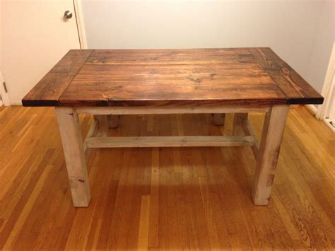 ana white smaller farmhouse table  bench diy projects