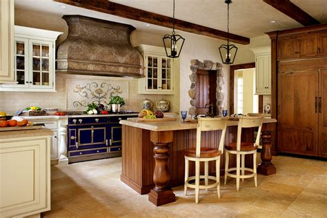 kitchen style country kitchens ideas in blue and white colors
