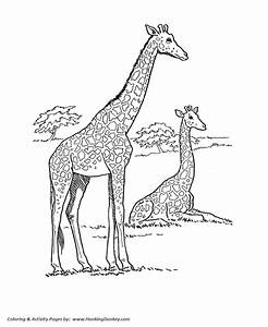 Wild Animal Coloring Pages African Giraffe Coloring Page
