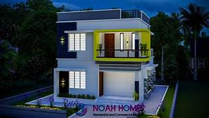 1195, Sq, Ft, 3bhk, Double, Floor, Modern, Flat, Roof, House, And