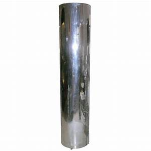 197039s chrome cylinder floor lamp at 1stdibs for Chrome cylinder floor lamp