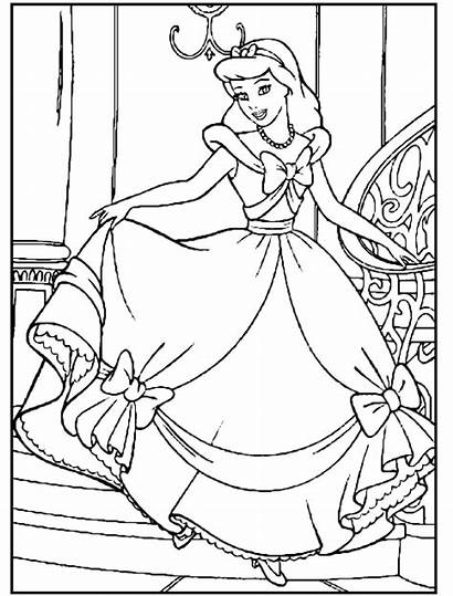 Cinderella Coloring Pages Princess Disney Colouring Printable