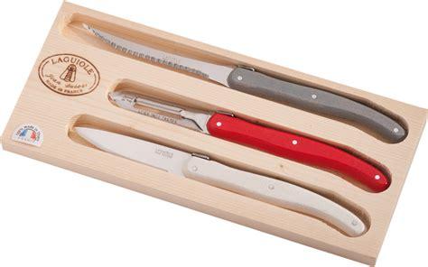 couteau de cuisine laguiole coffret 3 couteaux de cuisine laguiole jean dubost gamme