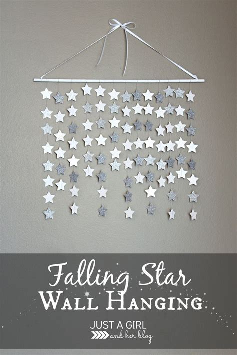 falling star wall hanging diy decorating star wall