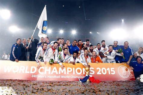 les sponsors remercient lequipe de france de handball