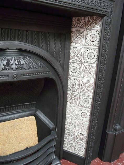 aesthetic movement fireplace tiles   fireplaces