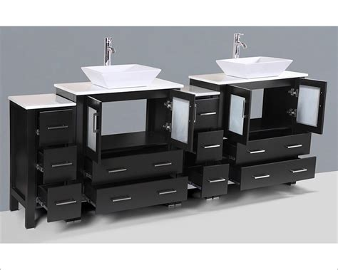 square vessel sink vanity 84in square vessel sink double vanity by bosconi boab230s2s