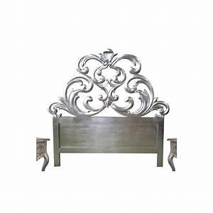 Tete De Lit 160 Cm : tete de lit 160 cm sculptee bois argente granada ~ Teatrodelosmanantiales.com Idées de Décoration
