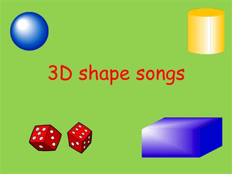 3d Shape Songs To Sing And Dance To! By Anyaisaac  Teaching Resources Tes