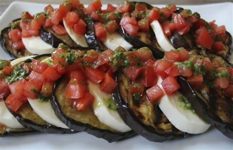 grilled eggplant grilled eggplant with fresh mozzarella tomatoes and basil vinaigrette domesticate me