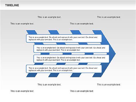 chevron timeline diagram    powerpoint