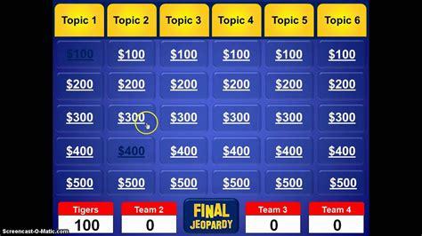 Powerpoint Jeopardy Template Jeopardy Powerpoint Template