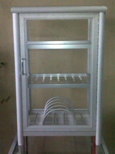 lemari rak piring model pintu besi design bild