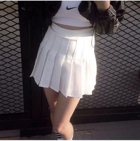 Skirt tennis skirt tumblr aesthetic white tennis skirt - Wheretoget