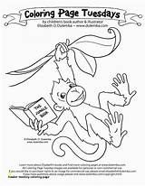 Coloring Pages Baboon Monkey Howler Divyajanani sketch template