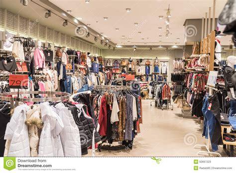 magasin de vetement de cuisine vêtements de femme dans le magasin de centre commercial à