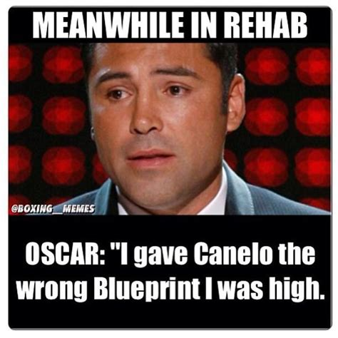 Rehab Meme - floyd mayweather mocks oscar de la hoya s rehab stint drug problem with meanwhile in rehab