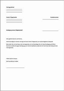 Kündigung Einer Wohnung : k ndigung mitgliedschaft vorlage text word pdf ~ Yasmunasinghe.com Haus und Dekorationen