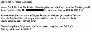 Versicherung Abrechnung Nach Kostenvoranschlag : meine versicherungs odyssee kamera defekt versicherung ~ Themetempest.com Abrechnung