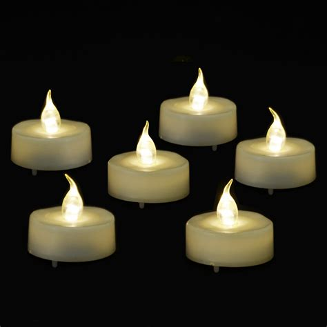 6 pack led battery operated tea lights flicker flame