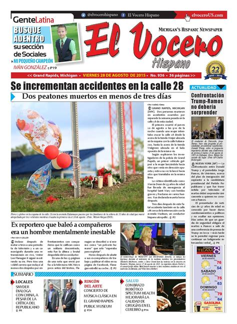 El Vocero Hispano 28 de Agosto de 2015 by El Vocero