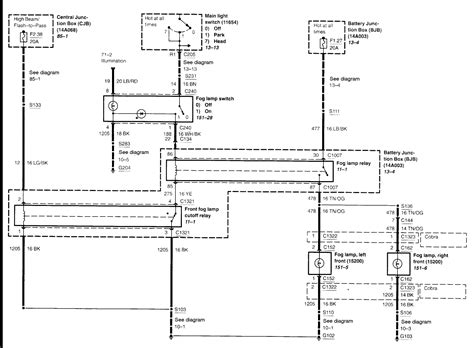 2004 Ford Wiring Diagram by Need Wiring Diagram For A 2004 Ford Mustang Fog Lights