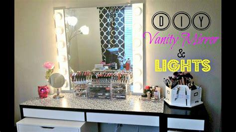 diy vanity mirror with lights 100