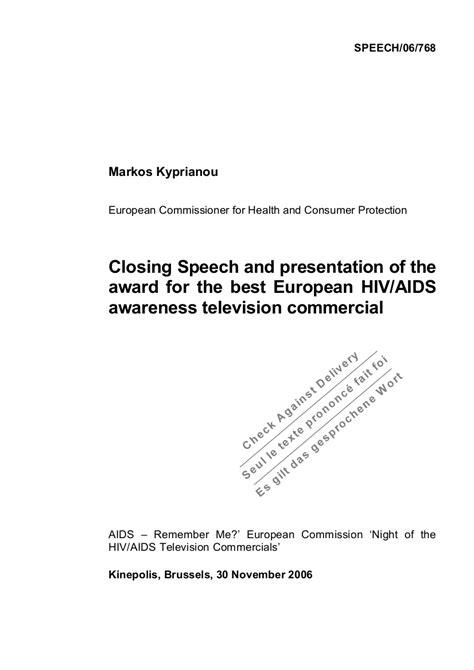 award speech examples samples   examples