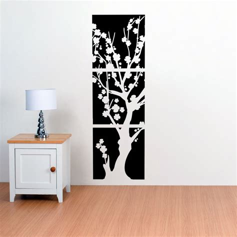 Decor Vinyl by Asian Japanese Cherry Blossoms Flower Tree Vinyl Wall