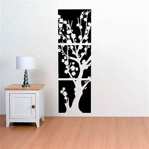 Asian japanese cherry blossoms flower tree vinyl wall for Asian wall art