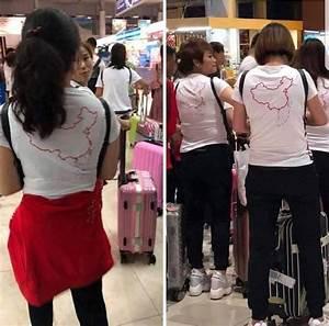 Chinese tourists made to take off illicit map T-shirts ...