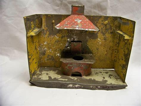 Rare Antique Late 1800's Tin Kitchen Diorama Toy