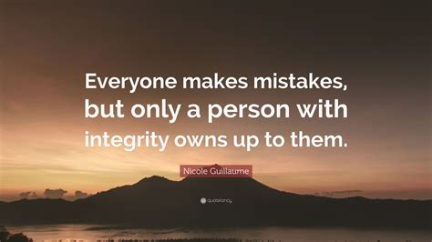 nicole guillaume quote   mistakes