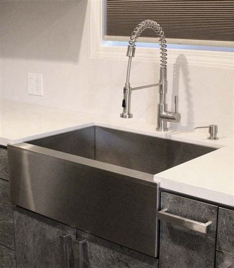 cheap black kitchen sinks 36 inch stainless steel single bowl flat front farm apron 5240