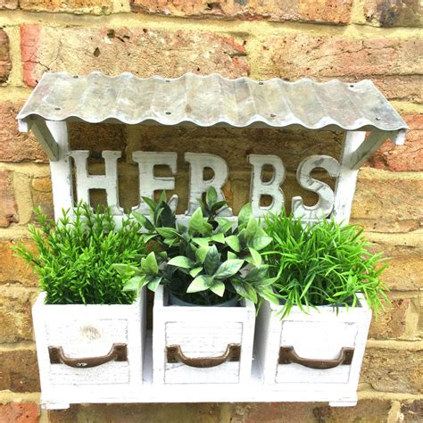 home interiors candle shabby chic vintage style wooden wall garden planter pots