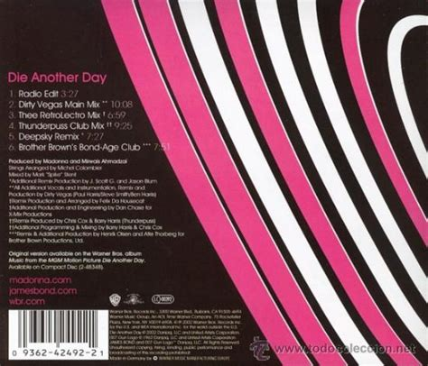 Madonna  Cd Maxi  Die Another Day   6 Track Comprar