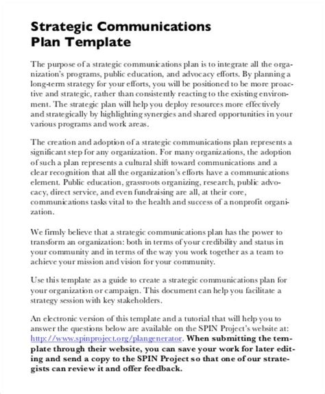 strategic plan   word   format