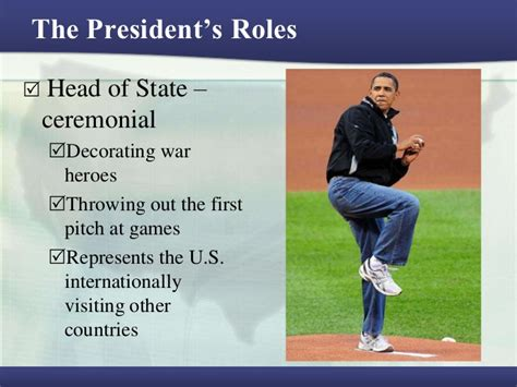The President's Roles Head Of