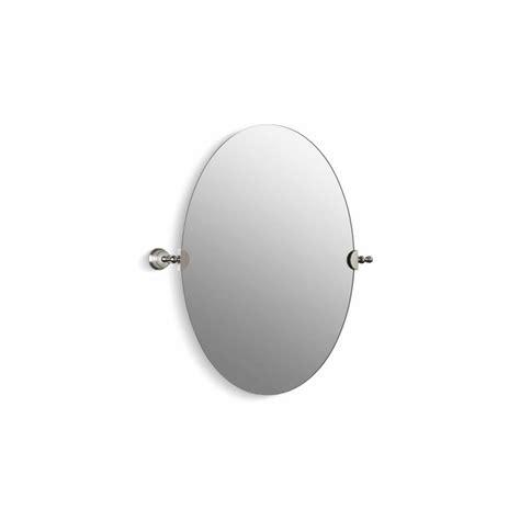 Tilting Bathroom Mirror Polished Nickel by Shop Kohler Revival 28 5 In H X 26 125 In W Oval Tilting