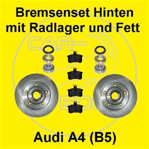 radlager audi a4 bremsscheiben mit radlager hinten f 252 r audi a4 8d b5 ebay